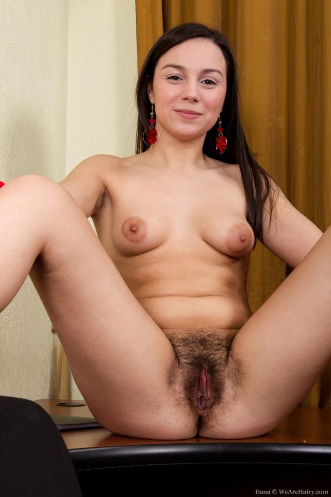 Wearehairy Girl Dana Sets Her Hairy Pussy Free