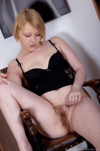 Adorable Hairy Curvy Blonde Teen Danniella From WeAreHairy