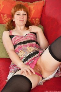 We Are Hairy – Hairy Redhead Iraina Shows Off Her Pussy