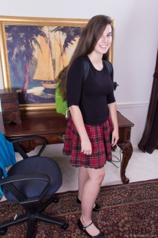 We Are Hairy Ivy Removes Her School Girl Skirt