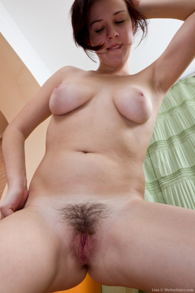 Hairy Teen Lina Plays At Home