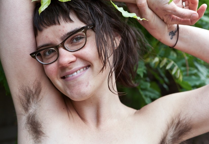 Natural Mona from WeAreHairy Rubs her Hairy Pussy Outdoors
