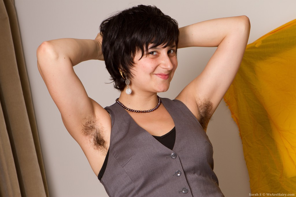 We Are Hairy Sarah S Shows Off Her Hairy Pussy and Armpits