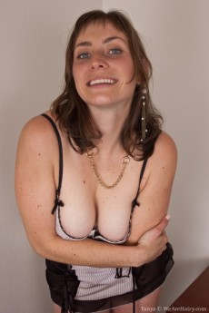 Luscious Tanya from WeAreHairy has Big Tits and a Very Hairy Pussy