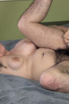 Super hairy woman Harley fucks her bush raw with her weird toy